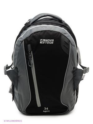 Рюкзак городской Агент 34 Nova tour. Цвет: серый, черный