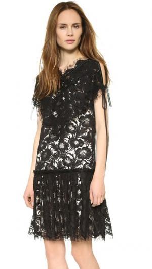 Платье Beatrix Wes Gordon. Цвет: голубой