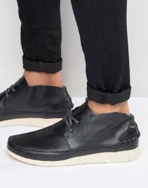 Boxfresh Кожаные кроссовки Statley. Цвет: черный