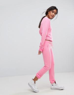 Wildfox Облегающие спортивные брюки Malibu. Цвет: розовый
