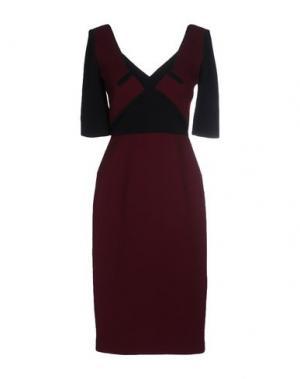 Платье до колена ROLAND MOURET. Цвет: красно-коричневый