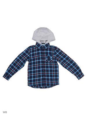 Рубашка Modis. Цвет: темно-синий, серый, черный