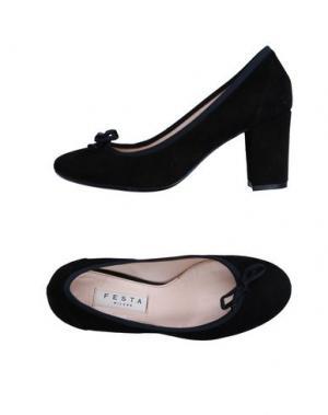Туфли FESTA MILANO. Цвет: черный