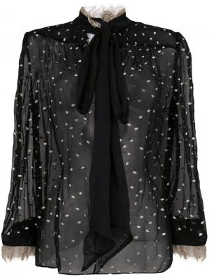 Прозрачная блузка с бантом Rodarte. Цвет: чёрный