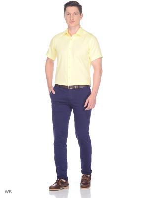 Рубашка BAWER. Цвет: желтый