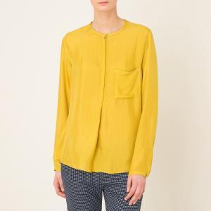 Блузка длинная POMANDERE. Цвет: горчичный