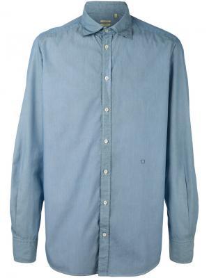 Рубашка в полоску Massimo Alba. Цвет: синий