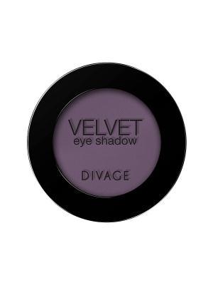 Матовые одноцветные тени для век VELVET тон 7317 DIVAGE. Цвет: фиолетовый