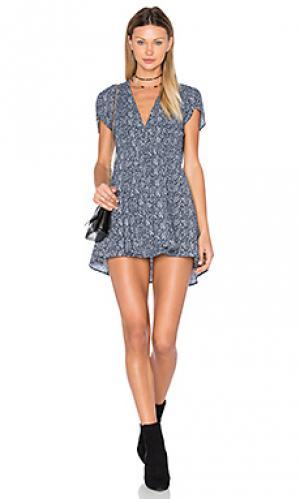 Платье с запахом dancer ROLLAS ROLLA'S. Цвет: синий