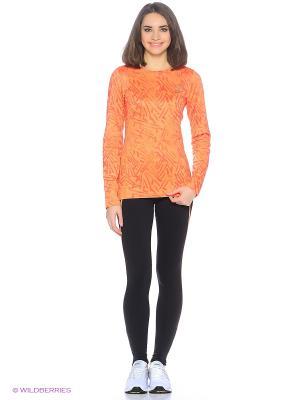 Рубашка беговая LS WINTER CREW ASICS. Цвет: оранжевый