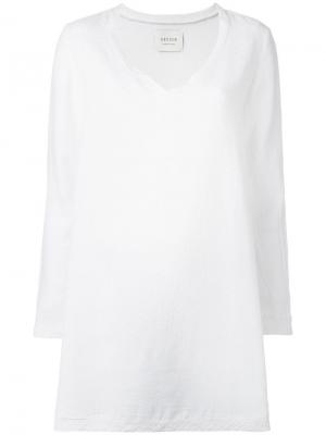Платье с V-образным вырезом Cecilie Copenhagen. Цвет: белый
