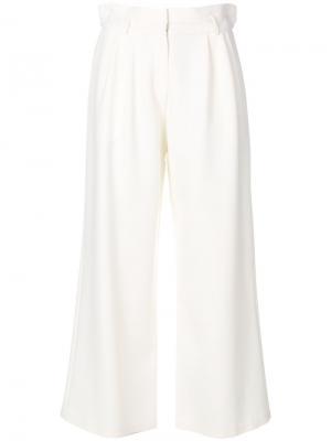 Широкие брюки Magda Butrym. Цвет: белый