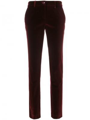 Классические брюки Etro. Цвет: красный