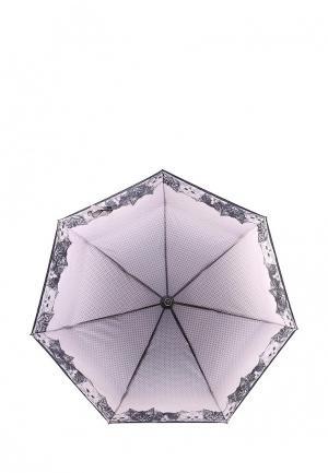 Зонт складной Fabretti. Цвет: розовый