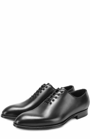 Классические кожаные оксфорды Sicily Dolce & Gabbana. Цвет: черный