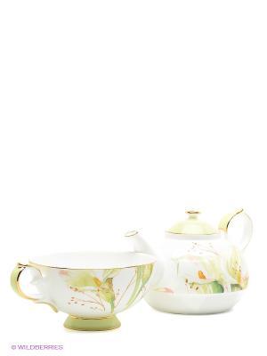 Чайный набор Калла Pavone. Цвет: белый, светло-зеленый
