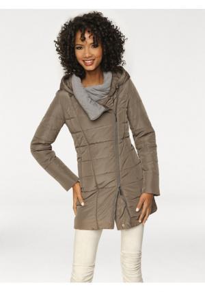 Стеганая куртка Linea Tesini. Цвет: серо-коричневый