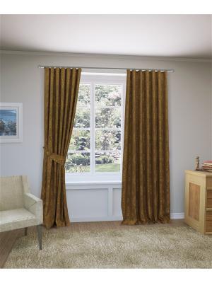 Комплект штор Челси SANPA HOME COLLECTION. Цвет: коричневый