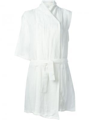 Куртка без рукавов Lost & Found Ria Dunn. Цвет: белый