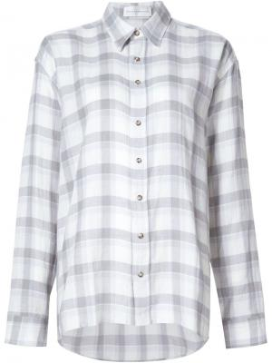 Рубашка в клетку Faith Connexion. Цвет: серый