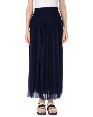 Длинная юбка FUZZI. Цвет: темно-синий