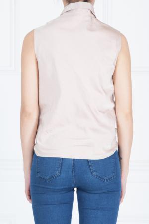 Шелковая рубашка-жилет Giambattista Valli. Цвет: розовый