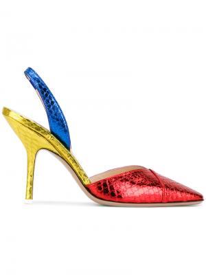Туфли-лодочки с тиснением под змеиную кожу Attico. Цвет: многоцветный