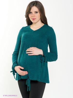 Пуловер 40 недель. Цвет: зеленый