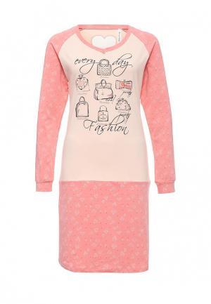 Сорочка ночная Relax Mode. Цвет: розовый