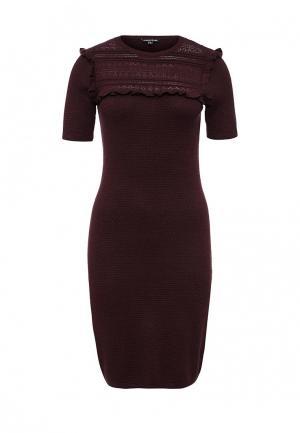 Платье Warehouse. Цвет: бордовый