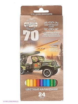 Набор карандашей 70-лет Великой Победы Koh-i-Noor. Цвет: серый