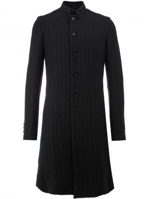 Классическое однобортное пальто Masnada. Цвет: чёрный