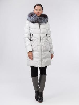 Пальто OSTRICH. Цвет: светло-серый