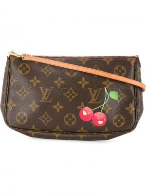 Клатч с монограммой Louis Vuitton Vintage. Цвет: коричневый