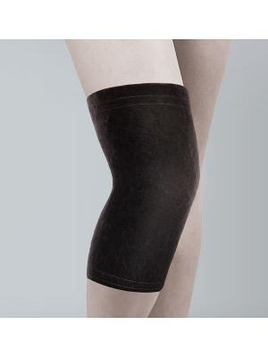 Бандаж на коленный сустав согревающий из собачьей шерсти Timed.. Цвет: черный