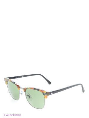 Солнцезащитные очки CLUBMASTER Ray Ban. Цвет: коричневый