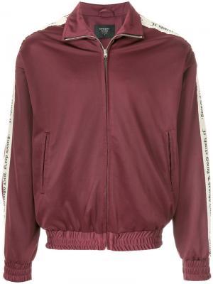 Спортивная куртка с контрастными панелями по бокам Represent. Цвет: красный