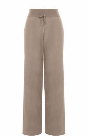 Вязаные брюки из смеси кашемира и шелка Cruciani. Цвет: бежевый