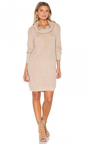 Вязанное платье generation MLM Label. Цвет: румянец