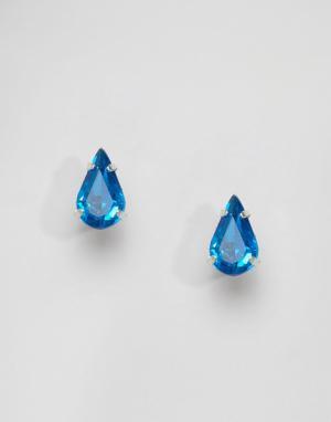 Krystal Серьги-гвоздики с кристаллами Swarovski. Цвет: фиолетовый