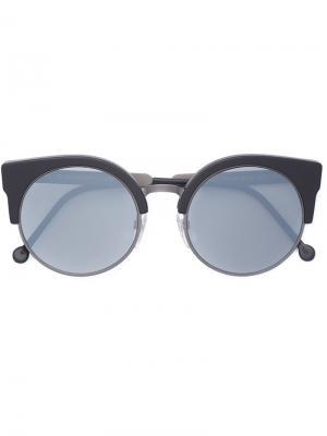 Солнцезащитные очки ILARIA BLACK MATTE ZERO Retrosuperfuture. Цвет: серый