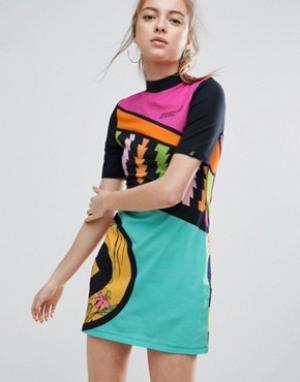 Illustrated People Облегающее платье. Цвет: мульти