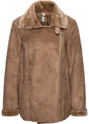Двухсторонняя куртка (верблюжий) bonprix. Цвет: верблюжий