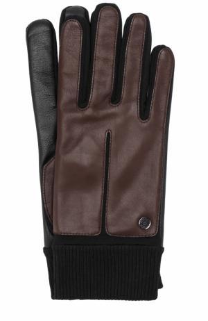 Кожаные перчатки с манжетами Roeckl. Цвет: темно-коричневый