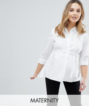 Mama.licious Рубашка для беременных Mamalicious. Цвет: белый