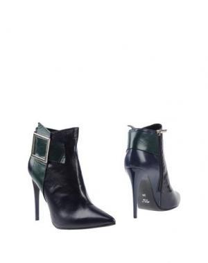 Полусапоги и высокие ботинки SPAZIOMODA. Цвет: темно-синий