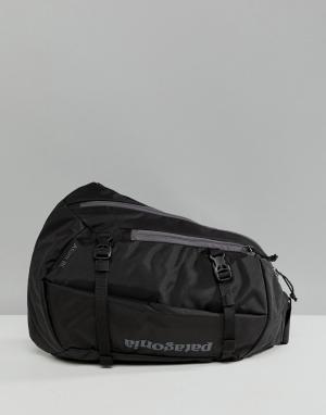 Patagonia Черная сумка через плечо объемом 8 л Atom. Цвет: черный
