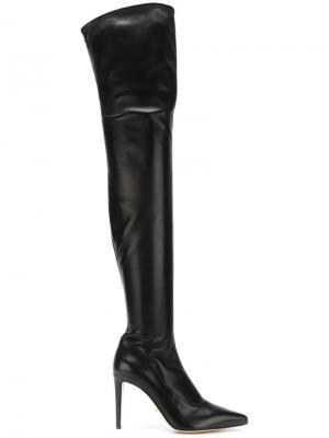 Ботфорты с заостренным носком Sergio Rossi. Цвет: чёрный