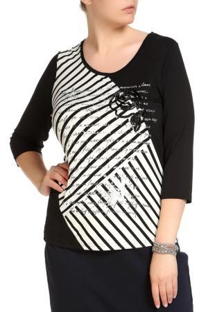 Блуза HELENA VERA. Цвет: черный