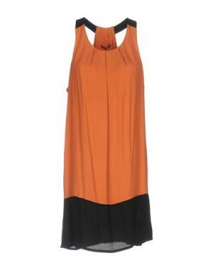 Короткое платье DIXIE. Цвет: оранжевый